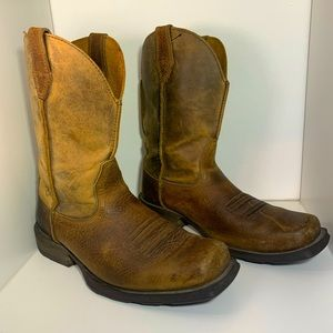 Ariat Rambler Square Toe Western Boot Size 8.5.